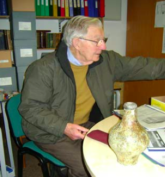 Ken with the 300-year-old jug