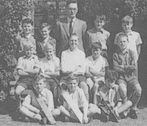 Corsham Regis School football team in the later 1950s