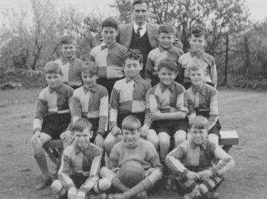 Corsham Regis football team probably taken in 1955