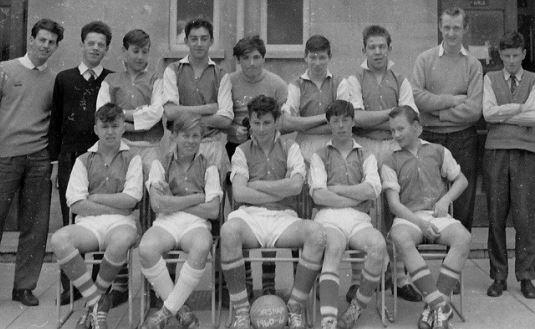 Corsham Secondary Modern School's Over 15's Football Tea. In 1960/61.