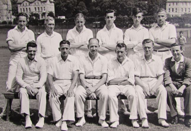 Pickwick Cricket club team photograph taken on the Recreation Ground in Bath on 4th July 1953