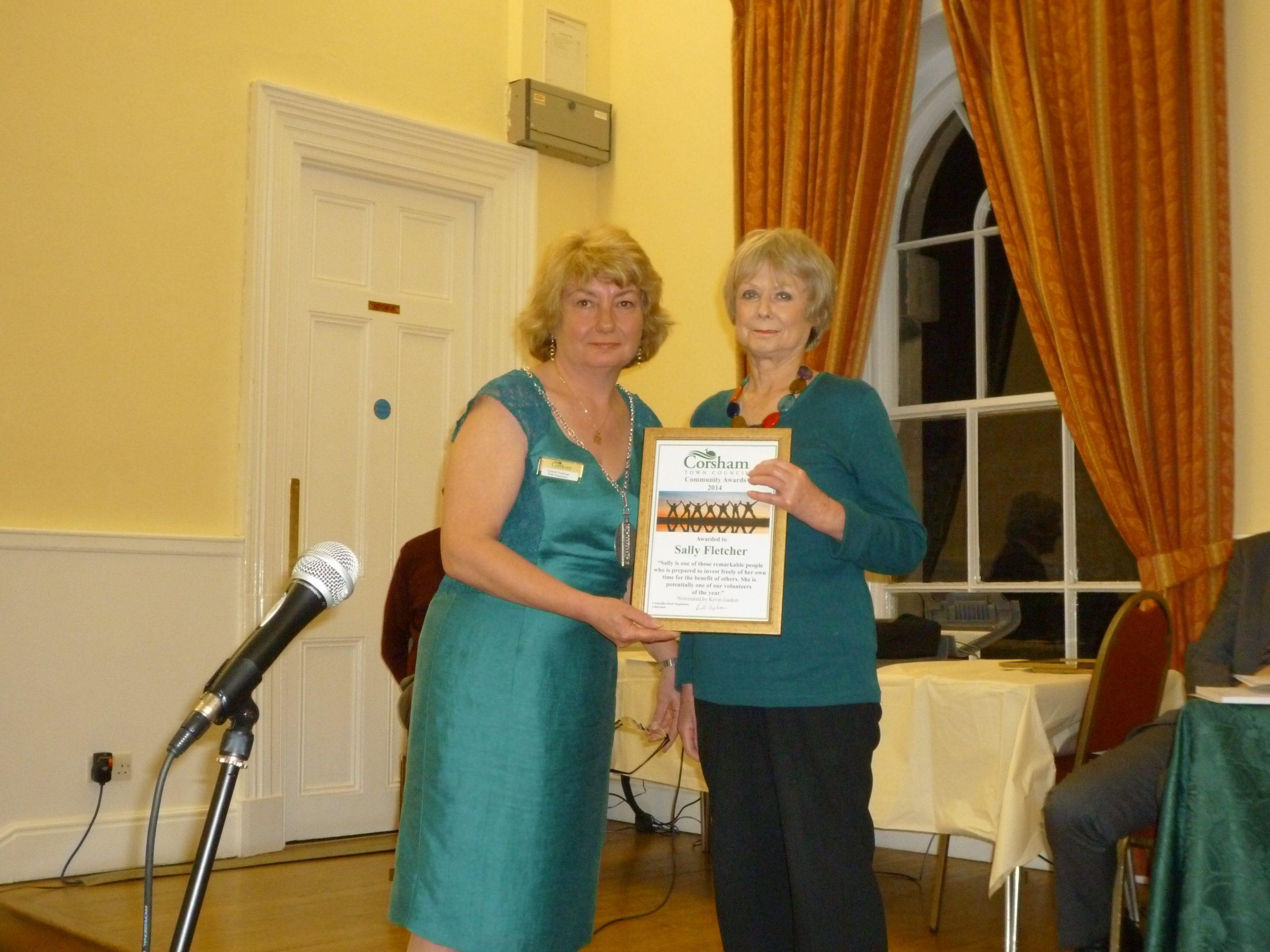 In 2014 Sally won the Corsham Community Award