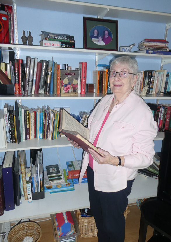 Pat Whalley with books